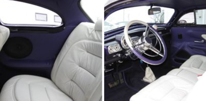 purple car interior